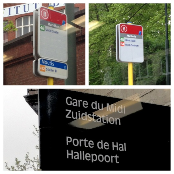 Bilingual Brussels: bus stops and road signs must be in both French and Flemish