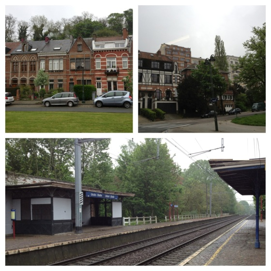 Uccle: leafy streets and a very quiet railway station